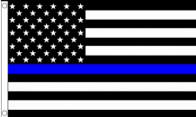 Thin Blue Line United Kingdom USA Pro-Police Awareness 5'x3'  Flag